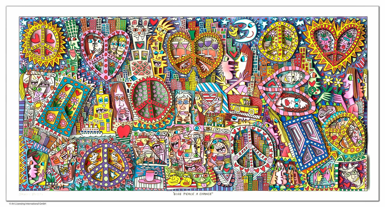 James Rizzi - GIVE PEACE A CHANCE